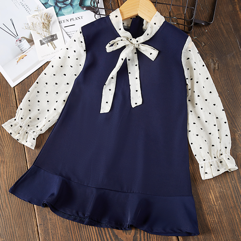 Menoea Children Clothing Suits 19 Autumn Fashion Style Girl Cowboy Long-Sleeve Mesh Dress Design For 3-8Y Kids Girls Sets 30
