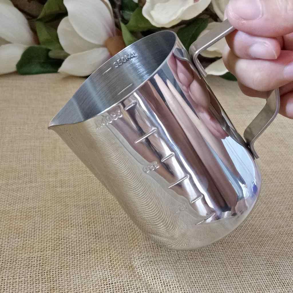 キャンドル作る投手起泡ピッチャーステンレス鋼ミルクピッチャー 350 ミリリットル完璧なためワックスミルククリーム水ジュースクラフトコーヒー