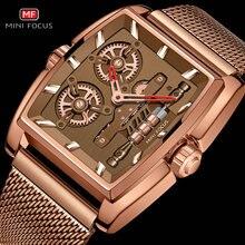 MINIFOCUS Fashion Retro Automatic Watch Men Business Skeleto