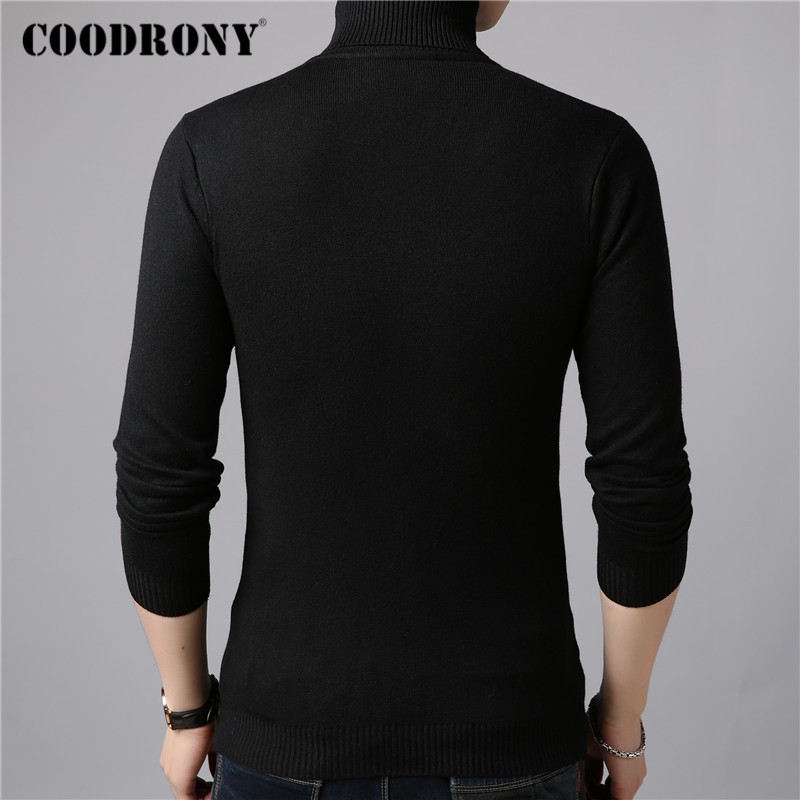COODRONY Brand Turtleneck Sweater Men Classic Casual Pull Homme 2019 Winter Thick Warm Sweaters Soft Knitwear Pullover Men C1009