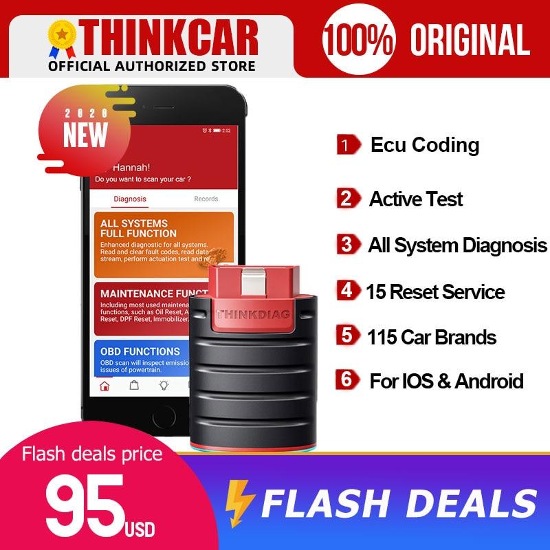 ThinkDiag Bluetooth диагностический сканер полная система диагностический инструмент ЭБУ кодирование активный тест obd2 сканер pk x431 easydiag 3,0