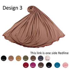Эластичный хиджаб из Джерси шарф с бриллиантами для мусульманских