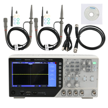 "Hantek DSO4102S nuevo osciloscopio de almacenamiento Digital 7 ""64K TFT LCD pantalla 2 canales 100M 1GSa/s osciloscopios de onda arbitraria"