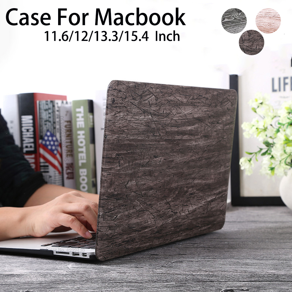New Wood Grain Laptop Cover For MacBook Case For MacBook Air Pro Retina 11 12 13 15 13.3 15.4 Inch Touch Bar Notebook Sleeve image