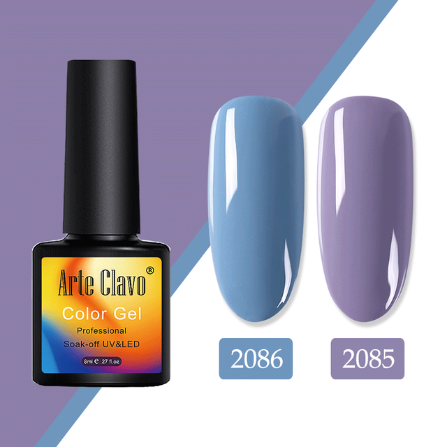 Arte Clavo 8ml Gel Nagellack Öl Hybrid Lacke Nagellack Semi Permanente UV Bunte Maniküre Gel Lak top Basis Lack
