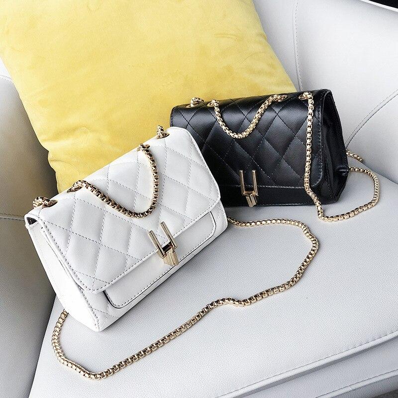 LILY QUEEN Ling Plaid Messenger Bag Chain Mini Fashion Crossbody Bags For Women Flap