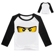 Dlf От 2 до 16 лет популярная в стиле лего футболка Дети брат