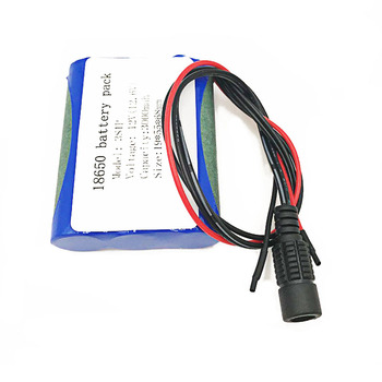 Batería de litio con bms 3s 1p, 12v, 3000mah/3ah, protección de descarga para CCTV/cámara/luz/Robot sin cargador