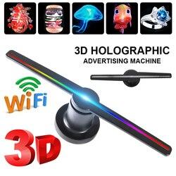 3D WIFI holograma proyector luz anuncio pantalla LED holográfica imagen lámpara remota LED 3d pantalla publicidad logo Luz