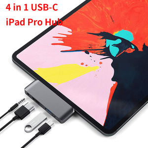 Hub adaptateur USB type-c pour tablette Mobile Pro, avec chargeur USB-C PD, prise USB 3.0 et 3.5mm, prise casque pour tablette iPad Pro 2020