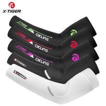 Protector solar X-TIGER calentadores de brazo para ciclismo tela de hielo secado rápido manguitos de ciclismo deportes al aire libre Codera cubiertas de brazo para correr