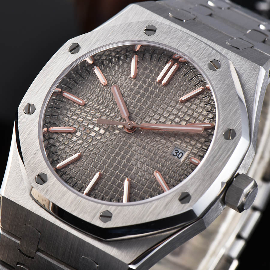 watch men automatic mechanical watch Luminous waterproof date 316L Solid stainless steel 41MM LM77
