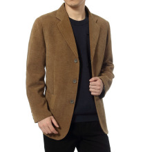 New middle-aged men's business casual suit high-end corduroy suit jacket spring and autumn solid col
