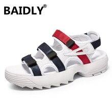 Yaz erkek sandalet rahat günlük erkek ayakkabısı moda erkek terlik klasik plaj ayakkabısı Sandalias