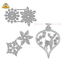 Merry Christmas Snowflake Die Cuts Metal Cutting Dies  Deer Set For DIY Scrapbooking Card Stencil Paper Cards