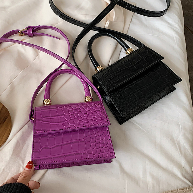 2020 Stone Pattern Leather Crossbody Bags