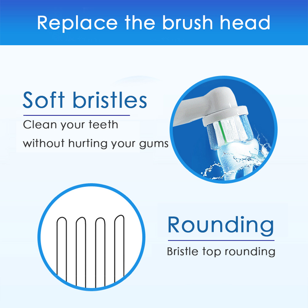4 PCS oral b nozzles Toothbrush heads for Replacement electric toothbrush heads recambio cepillo oral-b cross action 5