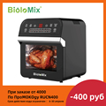 BioloMix 12L 1600W Air Fryer Oven Toaster Rotisserie and Dehydrator With LED Digital Touchscreen, 16-in-1 Countertop Oven
