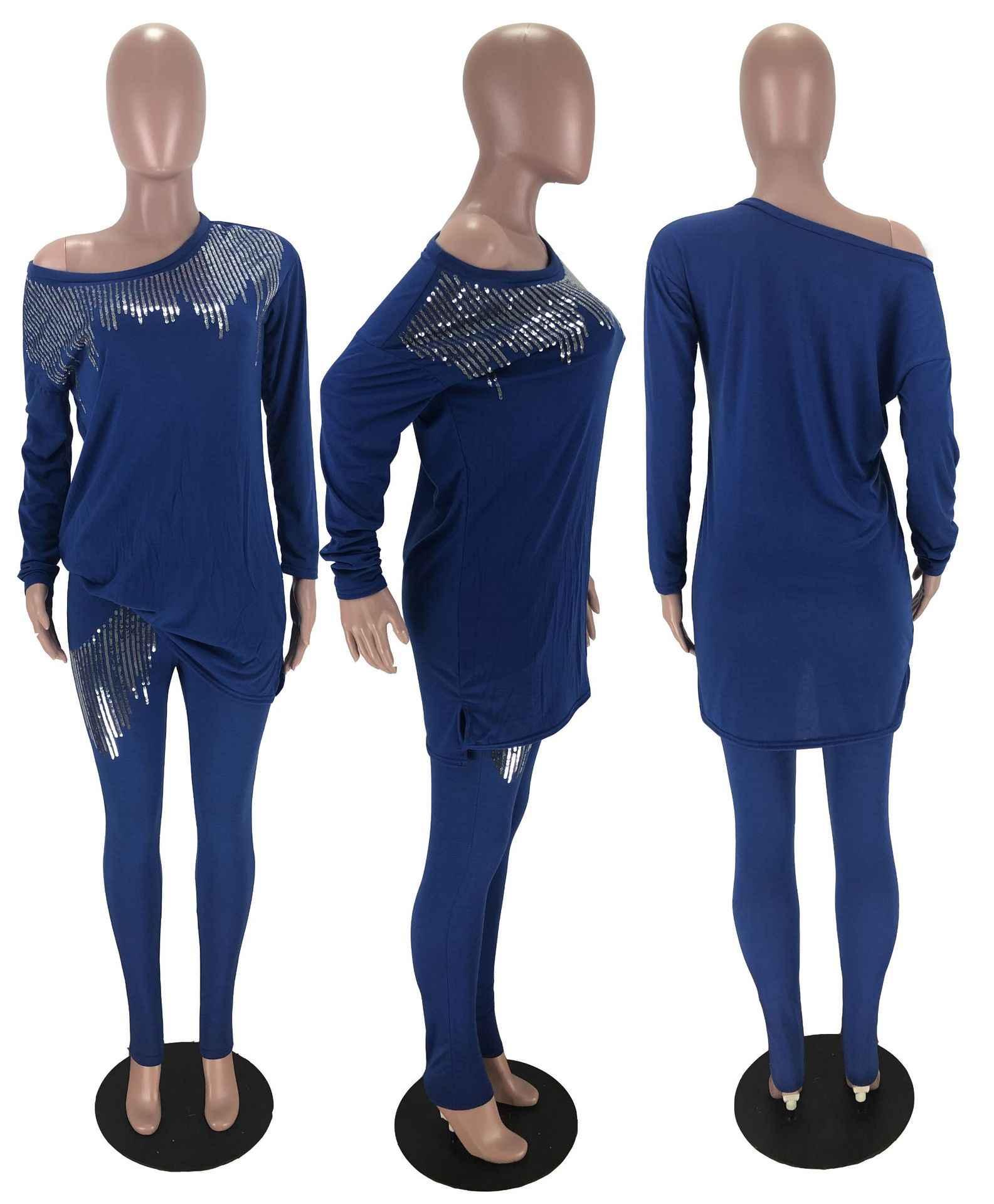 2020 דאשיקי אפריקאית מסורתית בגדי שתי חתיכה להגדיר נשים Africaine הדפסת Bodycon שמלה + מכנסיים בגדים אפריקני