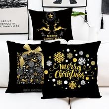 Christmas Pillowcase Merry Decor for Home Item Noel 2019 Deco Cristmas Navidad New Year Gift  202