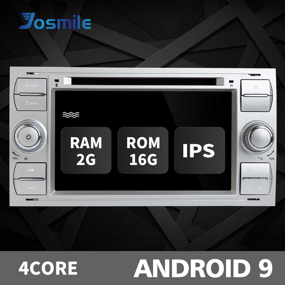 2 din Android 9 Radio del coche para Ford Focus 2 3 mk2 Mondeo 4 Kuga Fiesta Transit Connect S-C. multimedia GPS Navi unidad DAB