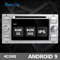 2 din Android 9 Car Radio For Ford Focus 2 3 mk2 Mondeo 4 Kuga Fiesta Transit Connect S C MAX Multimedia GPS Navi head unit DAB
