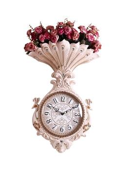 Luxury atmosphere watch European style living room creative wall clock fashion home mute clock peacock quartz clock trend clock
