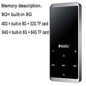 Image 5 - Original Ruizu D02 Bluetooth MP3 player Built in Speakers with e book Video Radio Mini Walkman