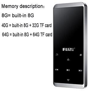 Image 5 - Ruizu D02 บลูทูธ MP3 Player Built in ลำโพง e book วิทยุ MINI Walkman