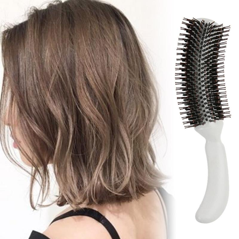 Women Hair Styling Comb Hair Scalp Massage Comb Round Teeth Wavy Roll Curly Straight Hair Brush Beauty Salon Hairdressing Tools