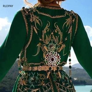 Image 4 - New Fashion Style Moroccan Wedding Shoulder Jewelry for Women Gold Hollow Pattern Rhinestone Jewelry Bra