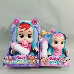 8/10 pouces 3D pleurs bébés doux Silicone vinyle Reborn bébé poupée jouet pour filles mignon poupée avec boîte Surprise bébé poupées cadeau