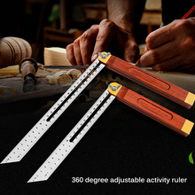 Gauges Measuring-Tool Angle-Rulers Sliding-T-Bevel Square Wooden Tri