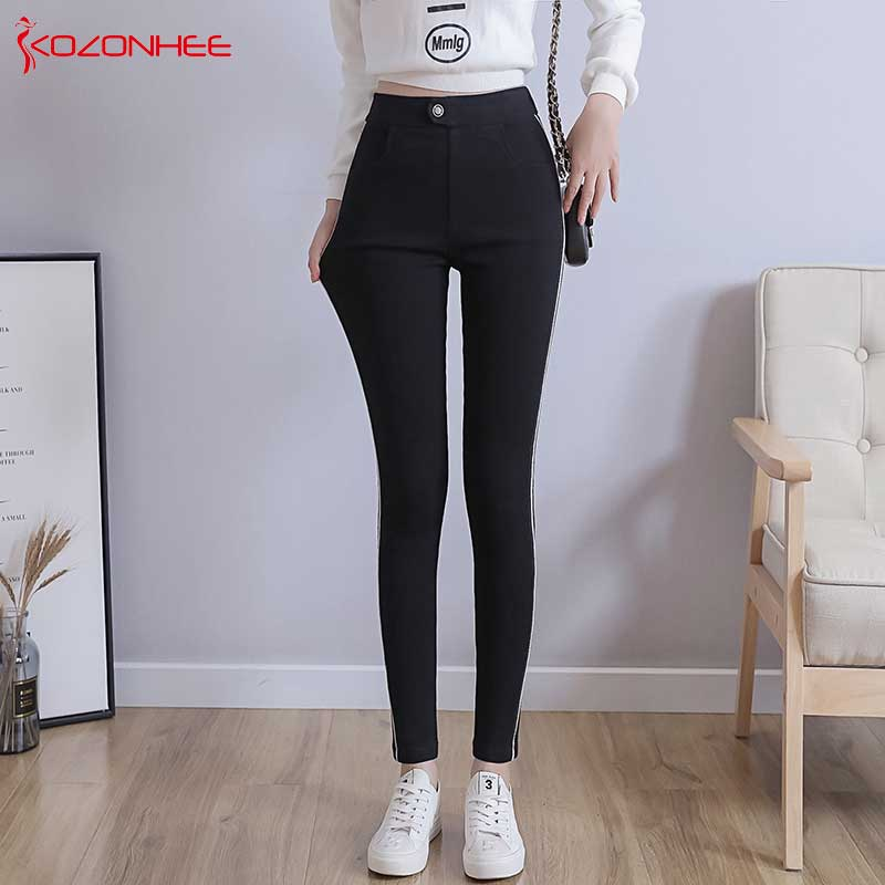 Plus Size Pencil High Waist Jeans Women High Elasticity Tight Push Up Stretch Skinny Jeans Woman Big Size   #95