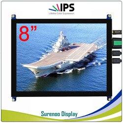 8/8. 0 1024*768 4:3 Hoge Helderheid HDMI LCD Module Display Monitor IPS Scherm w/USB Capacitieve Touch panel & Audio Uitgang