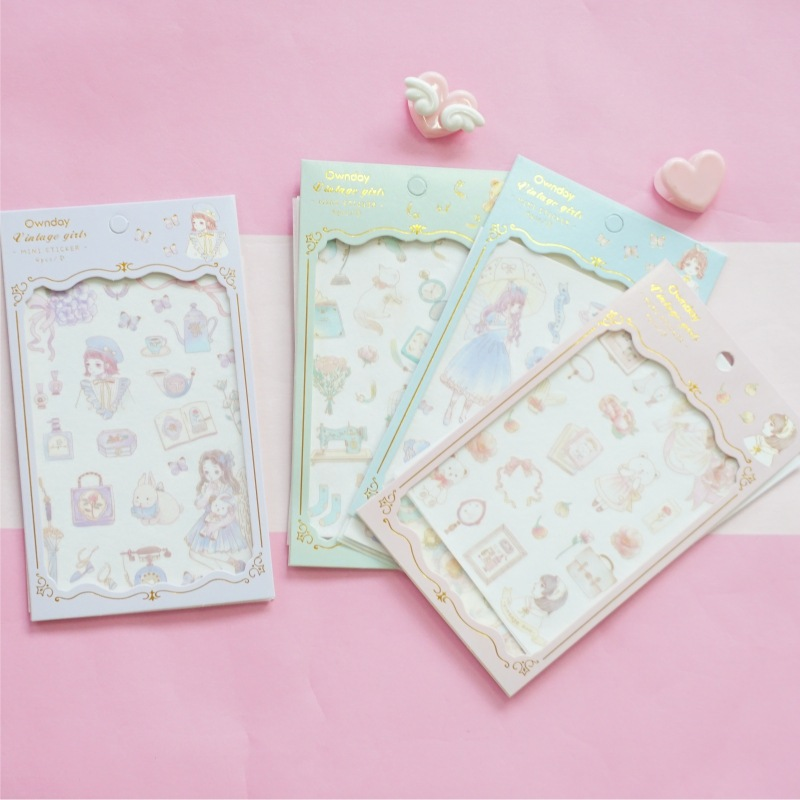 4 pcs/pack Own Day Rocco Girls Bullet Journal Decorative Stationery Stickers Scrapbooking DIY Diary Album Stick