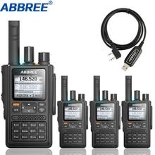 4 個abbree AR F8 gpsトランシーバーハイパワー 136 520mhz周波数ctcss dns検出巨大なledディスプレイ 10 キロ長距離