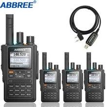 4 adet ABBREE AR F8 GPS Walkie Talkie yüksek güç 136 520MHz frekans CTCSS DNS algılama büyük led ekran 10km uzun menzilli