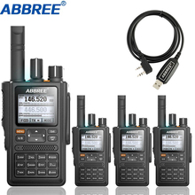 4pcs ABBREE AR F8 GPS 워키 토키 높은 전력 136 520MHz 주파수 CTCSS DNS 탐지 거 대 한 led 디스플레이 10km 장거리