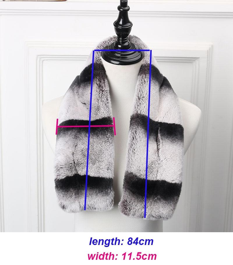 rex chinchilla scarf
