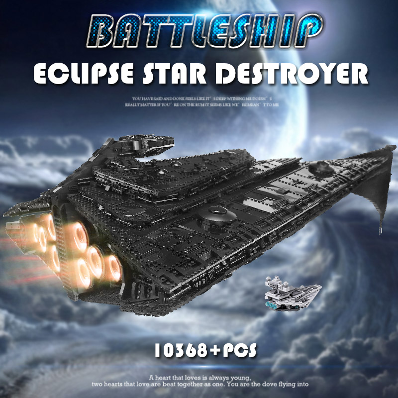MOULD KING 21004 The MOC Eclipse-Class Dreadnought With Full Interior Model Building Blocks