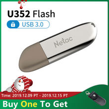 Netac U352 métal USB 3.0 disque Flash 16GB 32GB 64GB 128 GB USB3.0 lecteur Flash alliage de Zinc 32 64 128 GB lecteur de stylo bâton chiffré(China)