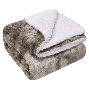 152X 127cm Thick Double Layer Sherpa Warm Blanket Plush Paid Newborn COmforter SLeeping COver