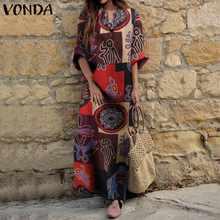 Сарафан 2021 женское платье с длинным рукавом Повседневный принтом
