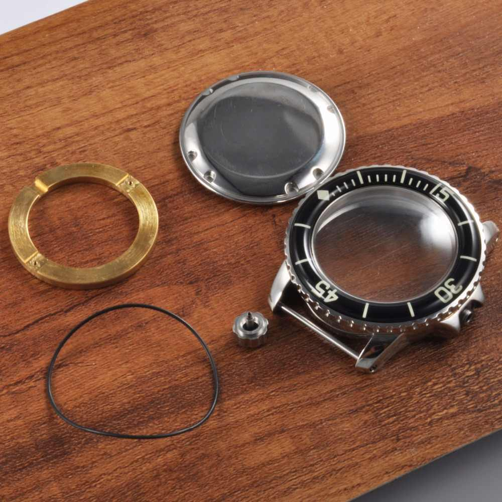 45 мм Corgeut часы с сапфировым стеклом корпус часы корпус с ободком fit ETA2836, miyota 8215,8205 автоматический механизм
