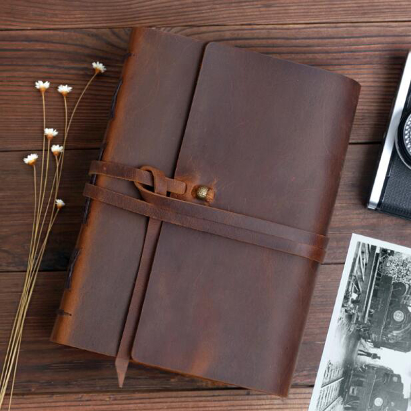 Free Shipping Genuine Leather Handmade General Photo Album Photo Book DIY Memory Storage Album image