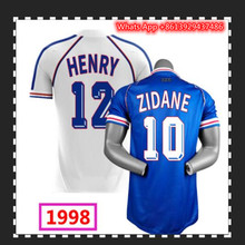 1998 RETRO SOCCER JERSEYS 10 Zidane HOME AND AWAY football shirts are in stock. 2020 2021 blue and white shorts in stock
