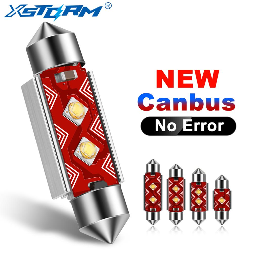 Светодиодные лампы Festoon CSP, 31 мм, 36 мм, 39 мм, 41 мм, C5W, C10W, Сверхъяркие купольные лампы для автомобиля, Canbus, без ошибок, лампы для чтения в салоне а...