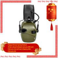 Tattico Tiro Elettronico Paraorecchie Anti-Rumore Cuffie Amplificazione Del Suono Hearing Protezione Auricolare Pieghevole