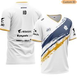 G2 Esports Team T Hemd Uniform Jersey 2019 V-neck Print Short Polyester Regular Youthful Vitality